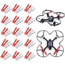 15 Set Upgraded Red and White Propeller Blades for HubsanX4 H107L H107C H107D RC Helicopter 66
