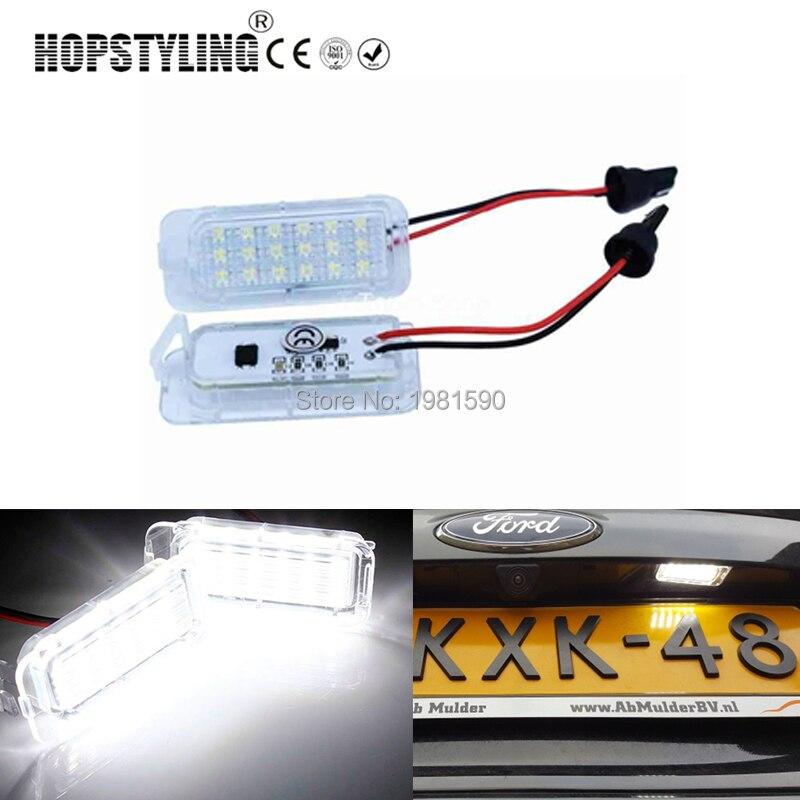 Hopstyling 2 шт нет ошибок LED номерного знака лампы для Ford Фокус 5Д Фиеста с-Макс Мондео Куга с-Макс Галактики автомобильные лампы стайлинг