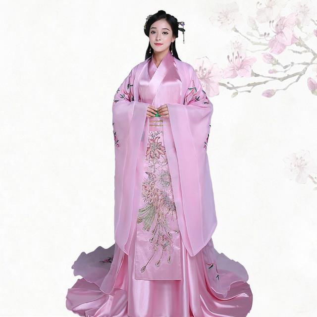 Alta Qualidade Rosa Princesa Vestido de Traje de Fadas Roupa Tang Terno Hanfu Traje Chinês Antigo Traje Tradicional Vestido