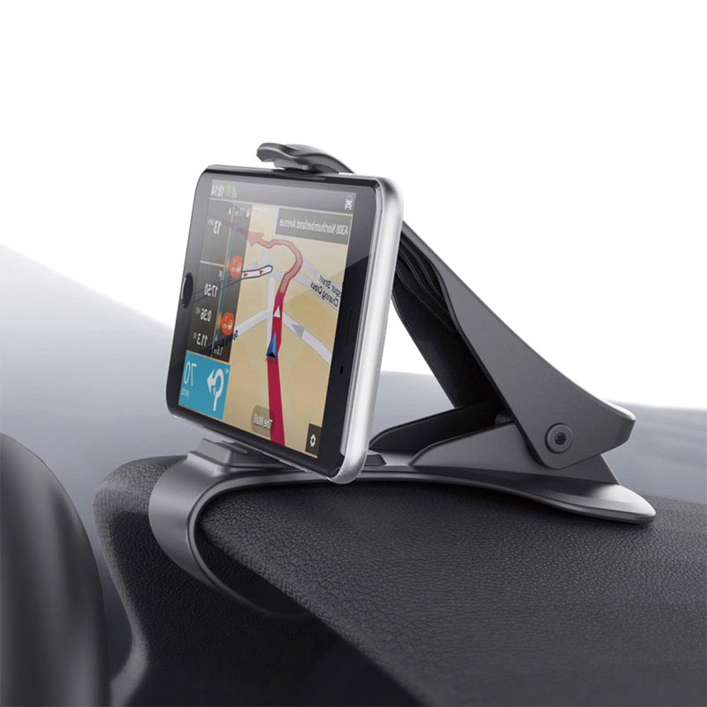 Dashboard Car Phone Holder Car Mount Safe Driving HUD Design Universal Bracket for iPhone X/8/plus/7/6 Samsung Galaxy S8 Note 8 portable lazy flexible arm clip bracket car holder for gps galaxy iphone 5 6