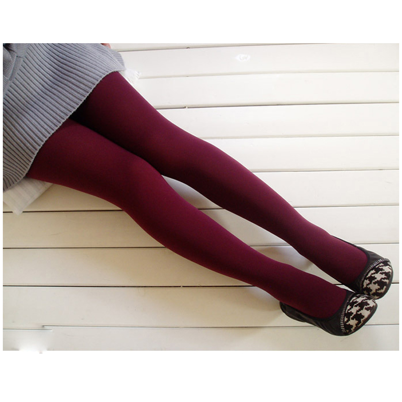 eeb622846 1Pc Wine Red Female Tights Woman Pantyhose Sexy Women Pantyhose Winter  Tights Elastic Warm Tights Pantyhose
