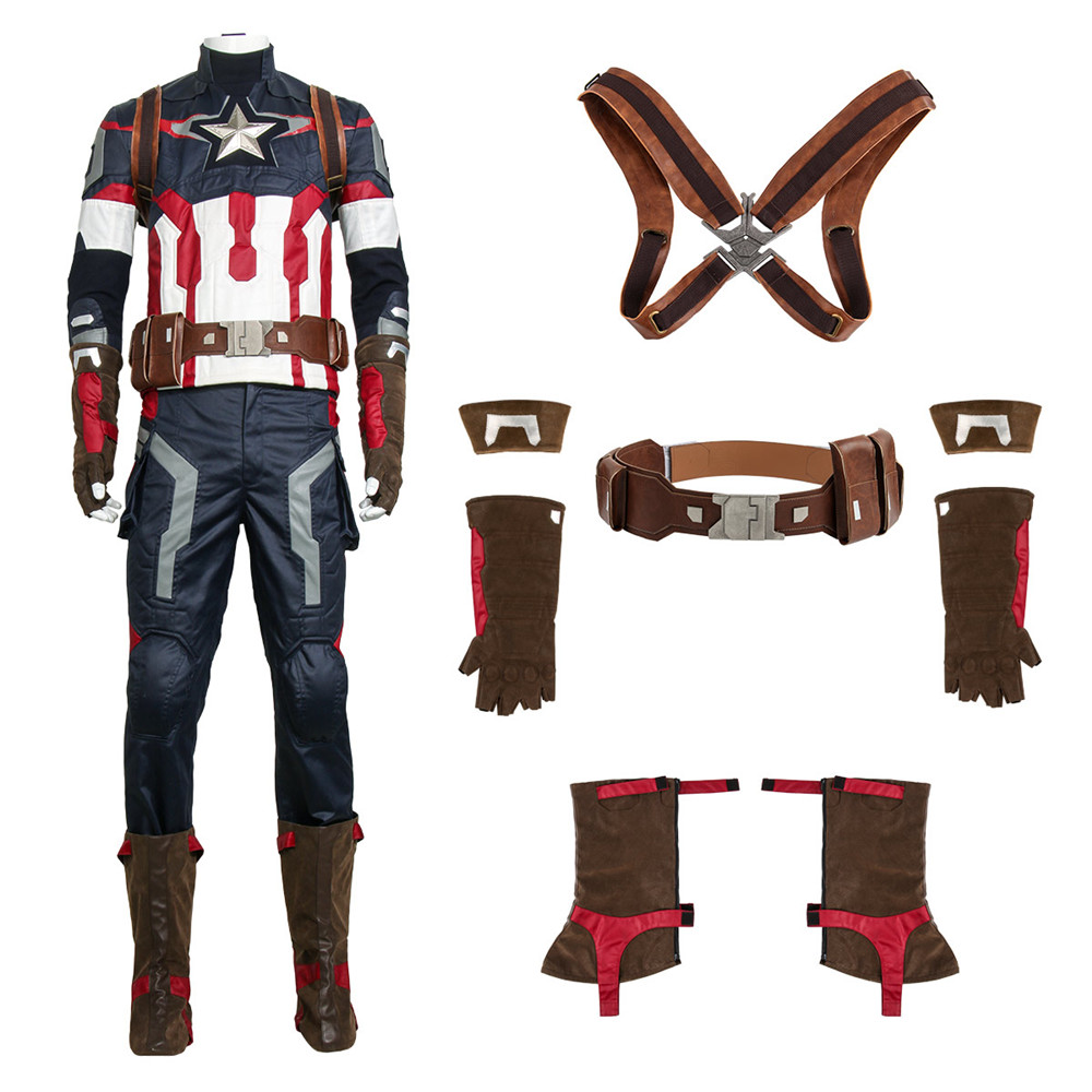 New Captain America 3 Civil War Steve Rogers Cosplay Costume Avengers Age of Ultron Hero Battle Suit Halloween Cosplay Costume