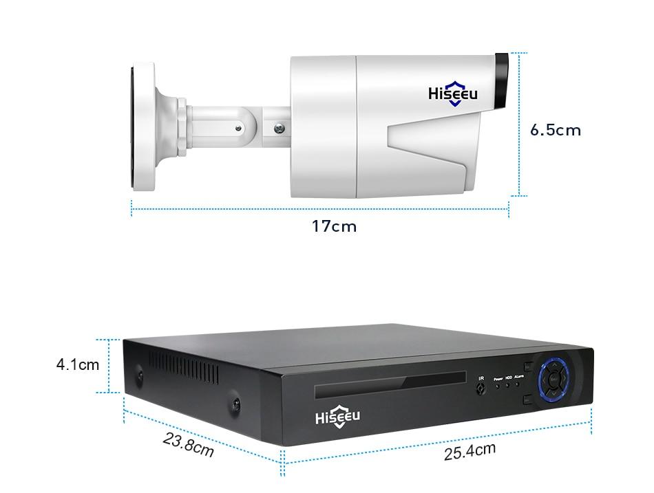 HTB17E4abgFY.1VjSZFqq6ydbXXa5 Hiseeu H.265 8CH 4MP POE Security Camera System Kit Audio Record IP Camera IR Outdoor Waterproof CCTV Video Surveillance NVR Set