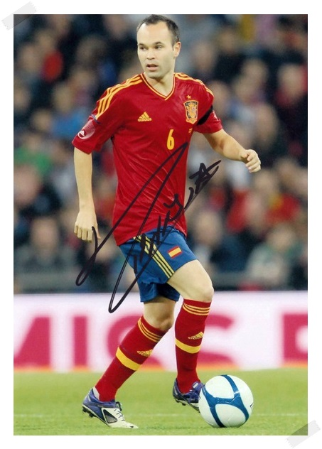 signed Andres Iniesta autographed  original photo  7 inches freeshipping 5 versions 072017 signed cnblue jung yong hwa autographed photo do disturb 4 6 inches freeshipping 072017 01