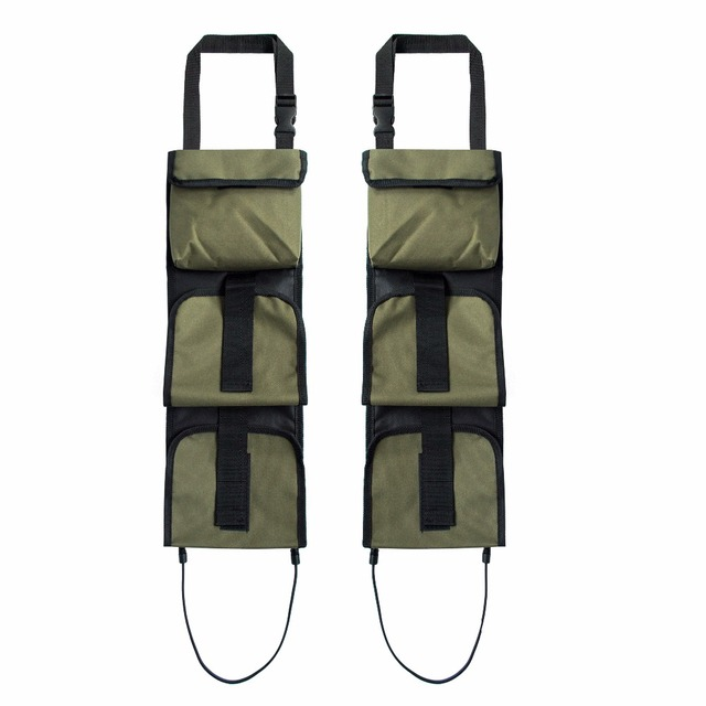 Vehicle Front Seat Storage Gun sling Bag Back Seat Hanging Rifle Rack Case Hunting Gun Holsters Organizer With Pockets