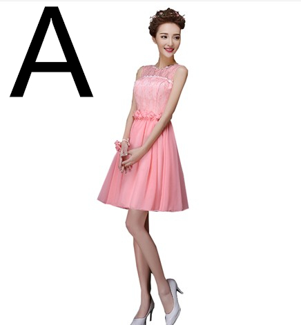 f1941ff6ea watermelon short formal summer halter dress 2019 chiffon bridal party robes  dress homecoming dresses size new arrival H4237