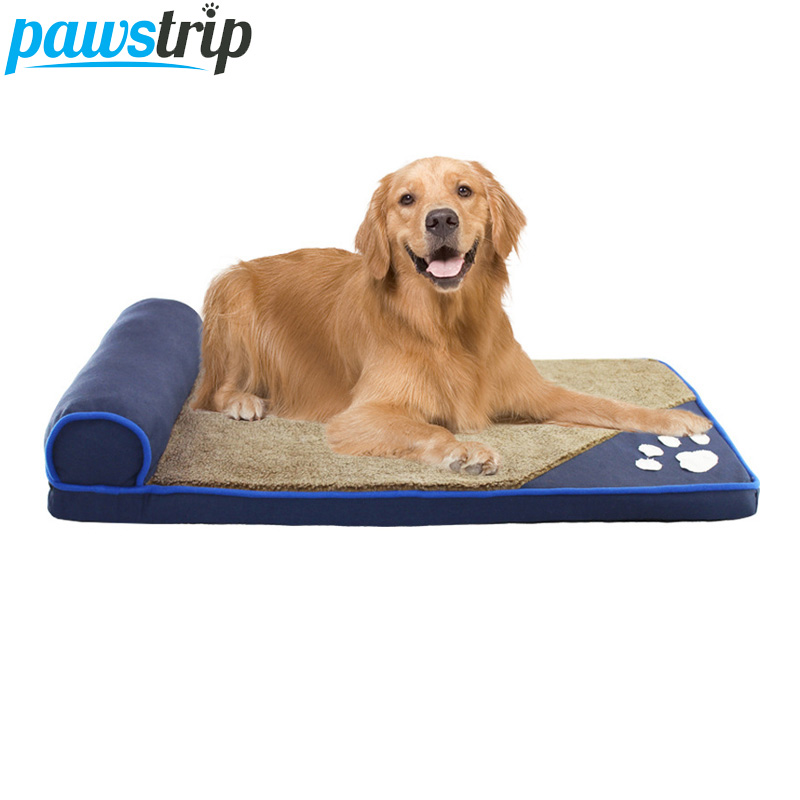 Big Dog Sofa Bed Toby Aurora Leather 85 Inch Mid Century Modern Hot Sale Pawstrip 4 Colors Paw Large House Soft Fleece Beds For Dogs Husky Labrador Cushion Pillow