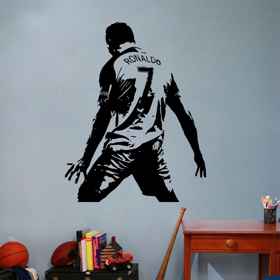 Cristiano Ronaldo Vinyle Mur Sticket Football Athlète Ronaldo Stickers Muraux Art Mural Pour Kis Chambre/Salon Décoration
