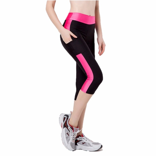 936b0960ba Women Yoga Pants Night Running Sportswear Gym Slim Legging Elastic Exercise  Tights Female Sports Fitness Compression Trousers