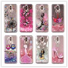 For Huawei Mate 20 Lite Case Liquid Glitter Pro Girl unicorn Dynamic Quicksand Star Soft TPU Back Cover