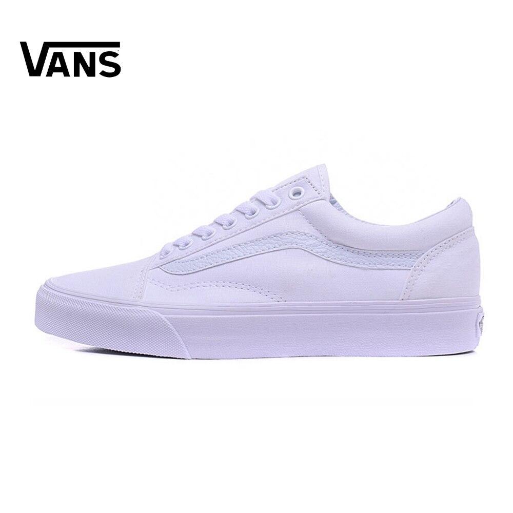 White Vans Old Skool Sneakers Low-top Unisex Men Women Sports Skateboarding Shoes Breathable Classic Canvas Vans Shoes original vans new unisex skateboard shoes low top sneakers breathable classic non slip vn0a2z5inzo