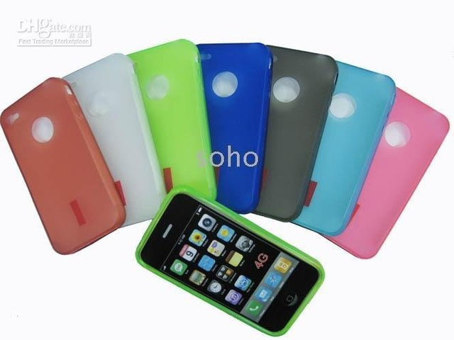 Lots of 30pcs soft TPU skin cover case for iPhone 4G