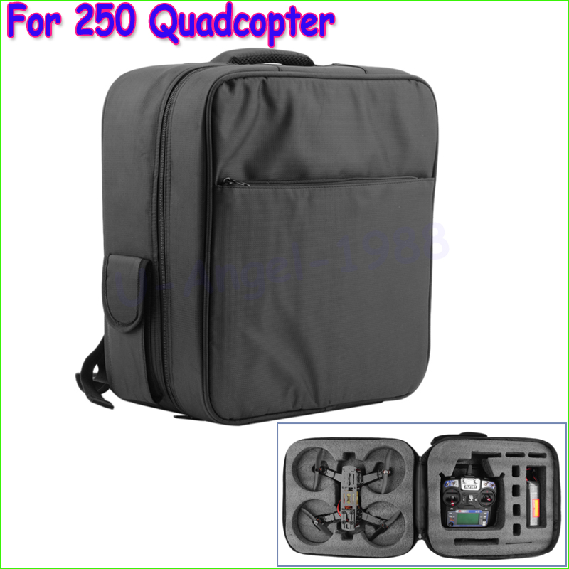 1pcs New Nylon Carrying Case Shoulder Bag Backpack For QAV250 Mini 250 Quadcopter Wholesale mini 250 quadcopter accessories portable protective carrying bag waterproof nylon for diy rtf 250 size racing drone f18682