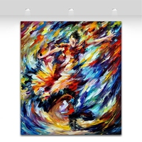 Feelings Of War 100% Hand Painted Canvas Oil Paintings Abstract Flamenco Girl Dancing Picture for Living Room Wall Decoration