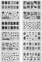 6 12CM 12PCS Lot Konad Design Stamp Image Plate Stamping Nail Art DIY Image Plate