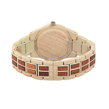 BEWELL Analog Alloy Wood Watch Women Round Luxury Quartz Watch Women With Calendar Auto Date Wrist Watches New with tags W1052A