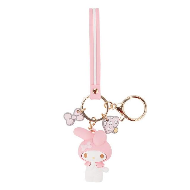 Cartoon Cute Hello Kitty Doll KT Cat Keychains Women Girls Charm Bags key chain  Accessories Pendant Car  New Key ring 2019 5
