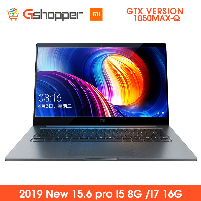 Ordinateur portable d'origine Xiaomi Pro 15.6 ''ordinateur portable 1050MAX-Q Air Intel Core GDDR5 256GB SSD DDR4 2400MHz reconnaissance d'empreintes digitales Windows