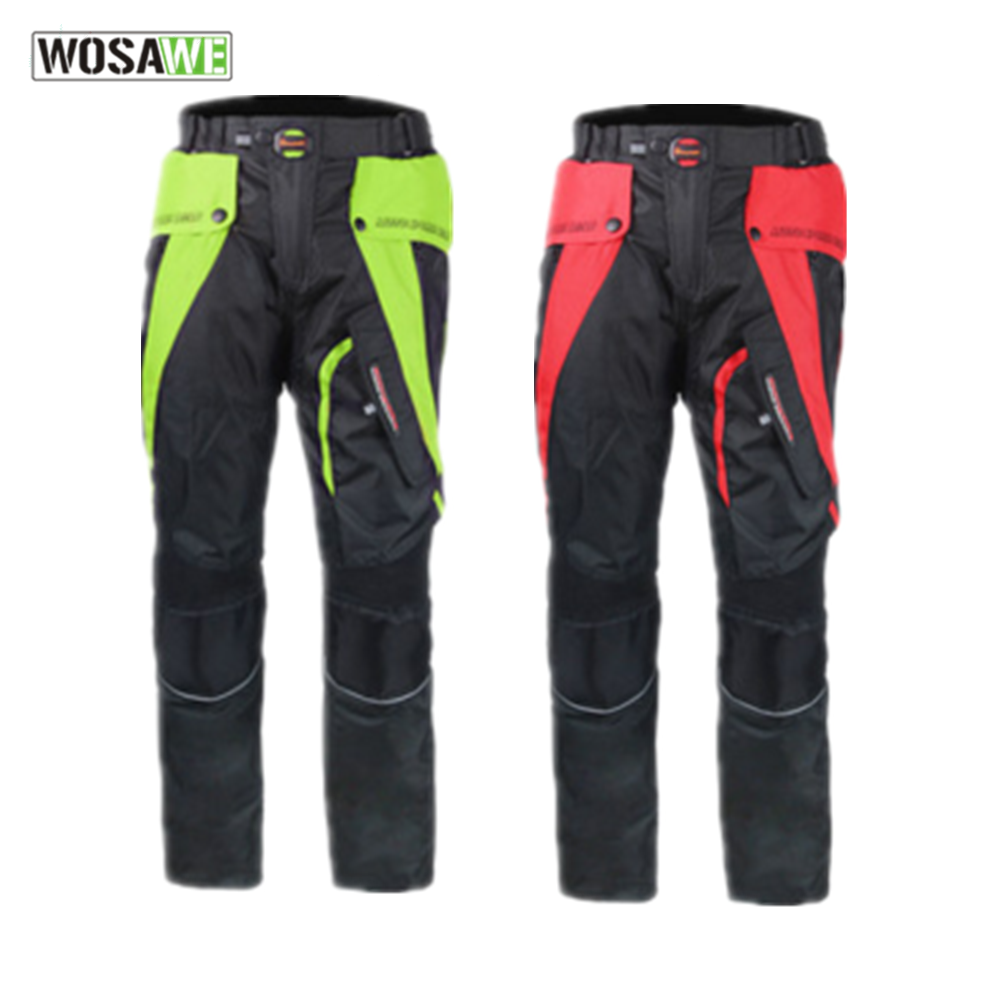цена на RIDING TRIBE Men Motorcycle pants motocross Motorbike Riding Trousers with protectors sets windproof racing pants Moto pants