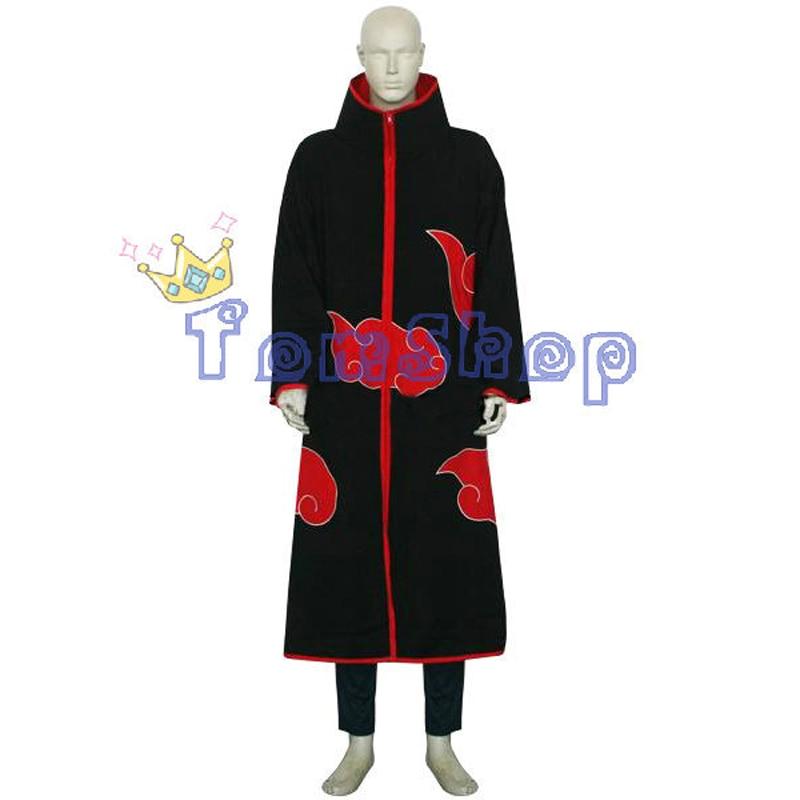 Аниме Наруто Акацуки Хошигаки Кисаме Deluxe Косплэй костюм 6 в 1 полный набор (плащ + футболка + штаны + повязка на голову + сапоги + кольцо)