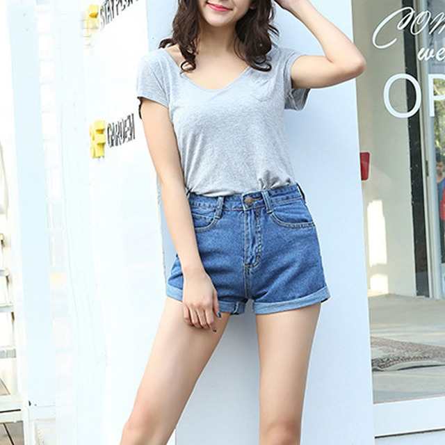 Aliexpress.com : Buy High Waist Denim Shorts Plus Size XL Female ...