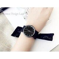 Pani prezent proste stylowe ładna dziewczyna zegarek Enmex Koronki pasek zegarka zespół najnowocześniejsze fashion stripe style quartz zegar zegarek