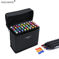 TouchFive Marker 168 Colors Alcoholic Oily Based Ink Marker Set Drawing Pen For Manga Dual Headed