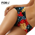 FORUDESIGNS High Quality Seamless Panties for Women 3D Many Fruits Pattern Female Panties Soft Briefs Sexy Lingerie Plus Size