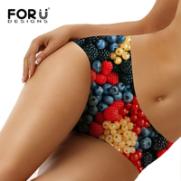FORUDESIGNS High Quality Seamless Panties For Women 3D Many Fruits Pattern Female Panties Soft Briefs Sexy