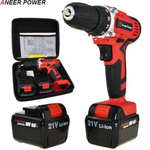 21V Screwdriver Cordless Drill Electric Batteries Power Tools Mini Eu Plug