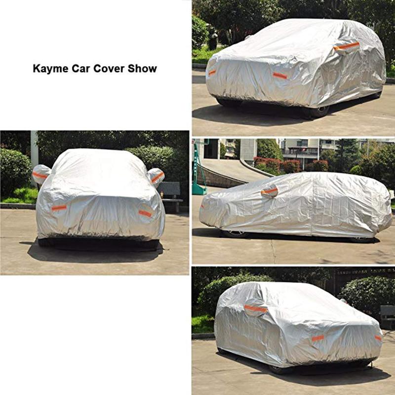 Kayme 210T Vattentät Full Car Covers Skydd mot solenergi utomhus, - Exteriör biltillbehör - Foto 5