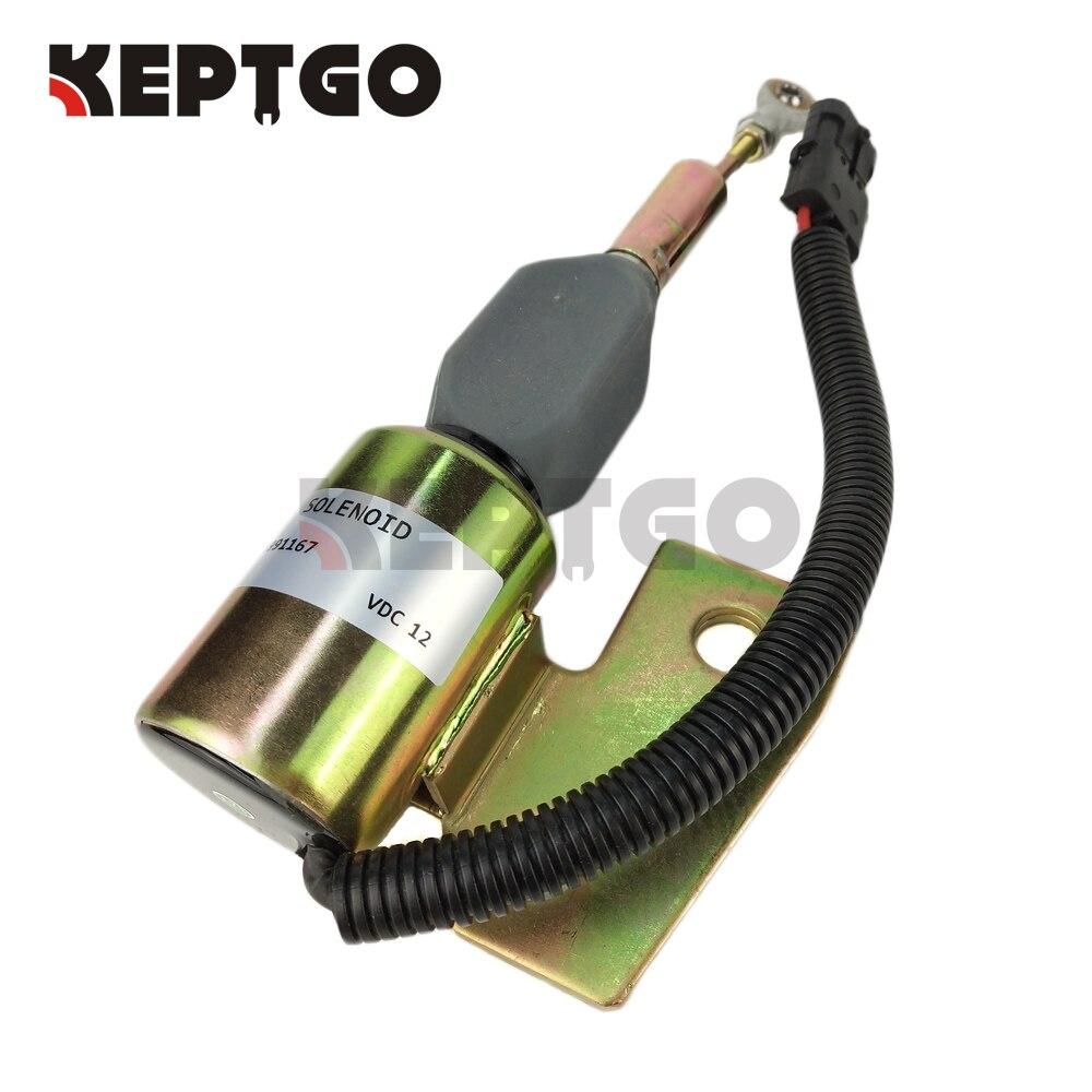 Fuel Shutoff Solenoid 3991167 12v SA-4941-12 J932529 87420952 For Cummins