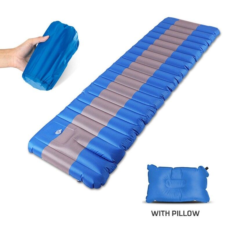 Nuevo inflar el colchón inflable para acampada almohadilla para dormir al aire libre de humedad de aire inflable colchón de natación piscina flotante Pad - 4