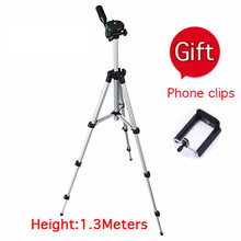 1.3 meters portable digital camera tripod card machine dv projector tripod mobile phone rack