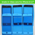 """Premium A+ Quality 10PCS/Lot Front Screen Lens Outer Glass For iPhone 6 4.7"""" Glass Replacement Part Black/White Free Shipping"""