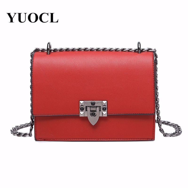 2018 crossbody bags for women leather handbags luxury handbags women bags designer chain flap shoulder messenger bag sac a main все цены