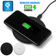 Qi Fast Wireless Charger Desktop Phone Charging Pad For Samsung Galaxy S8 Plus S7 S6 Edge Plus Note 8 5 for iPhone X 8 8 Plus