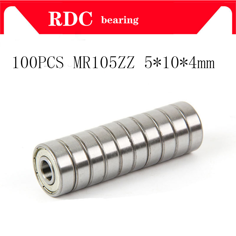 100PcsABEC-5 MR105ZZ MR105Z MR105 ZZ L-1050 5*10*4 5x10x4mm Metal Seal Shielded Miniature High Quality  Deep Groove Ball Bearing
