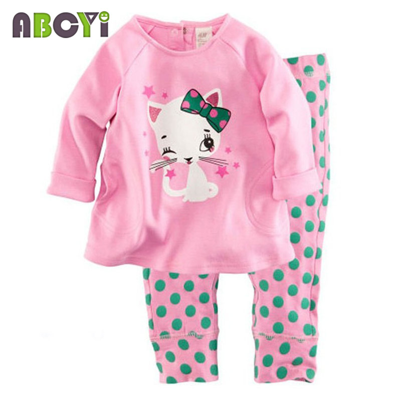 children's pajamas Long Sleeve Clothes Kids Pajamas Baby Clothing Sets for Boys pijama Girls pyjamas Cartoon Sleepwear 6