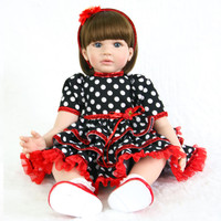 NPK 24/60 cm Baby Alive Silicone Reborn Baby Toddler Princess Girl Dolls Toys for Children Bebes reborn adorable Gift Doll