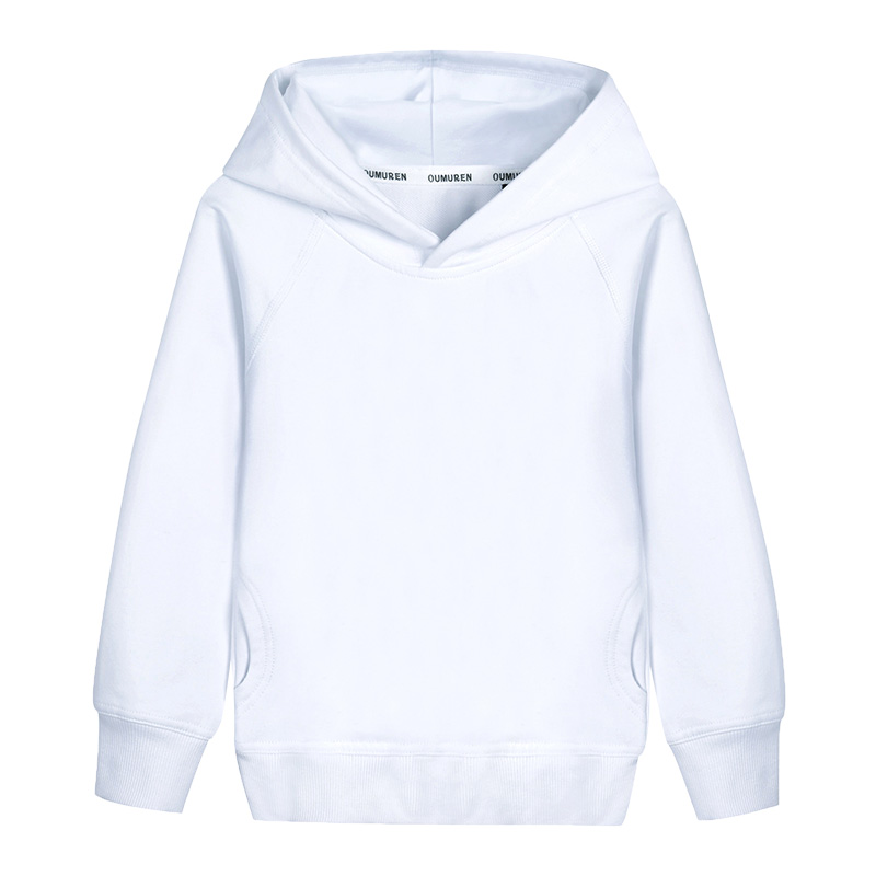 Boys Hoodies Outerwear Unisex White Hooded Girls & Boys Sweatshirt 2018 Kids Clothes for 2 3 4 6 8 10 Years RKH175004