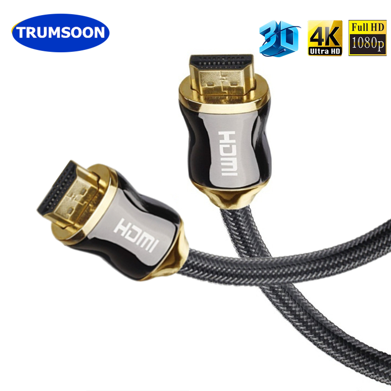 Trumsoon HDMI 2.0 Cable 24K Gold-plated 4K*2K 3D UHD Male HDMI to HDMI 1m~10m for TV LCD Laptop PS4 Projector Computer DVD