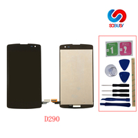 LCD Display tela Tela For LG Optimus F60 D390 L Fino D290 D290N D295 Touch Screen panel Digitizer Assembly with middle frame