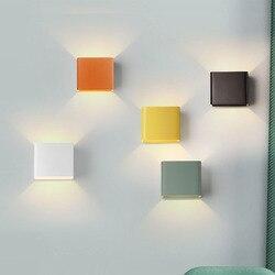Nowoczesne lampy ścienne LED sypialni aluminium kinkiety kryty jadalnia korytarz oświetlenie domu lampki nocne Lampy LED oprawy światła w Wewnętrzne kinkiety LED od Lampy i oświetlenie na