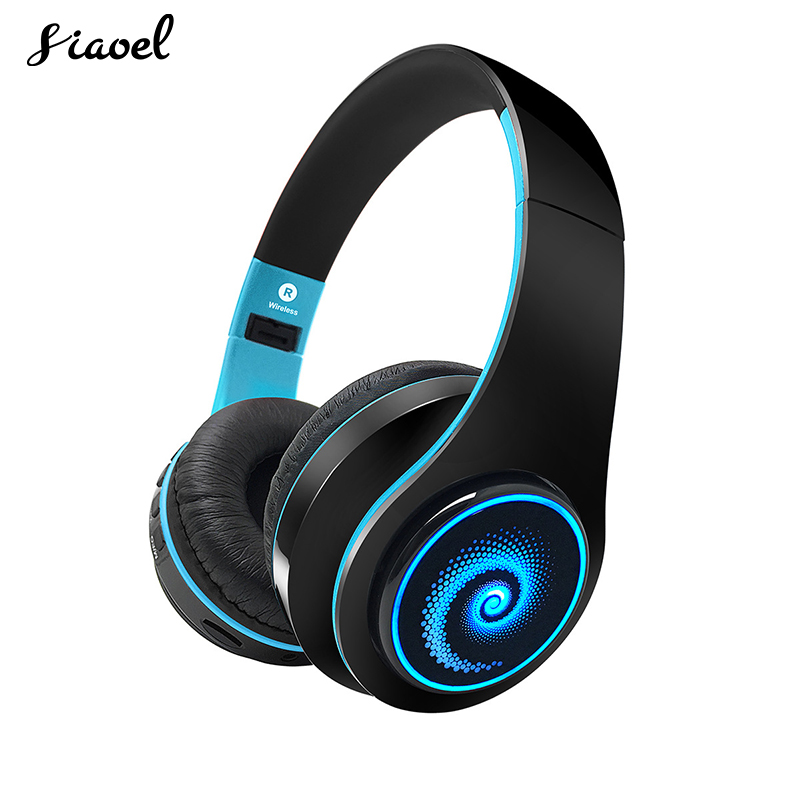 Bluetooth Wireless Headphone Colorful Led Light RGB Gradient Glow Earphone Hifi Music Headphones For PC Phone