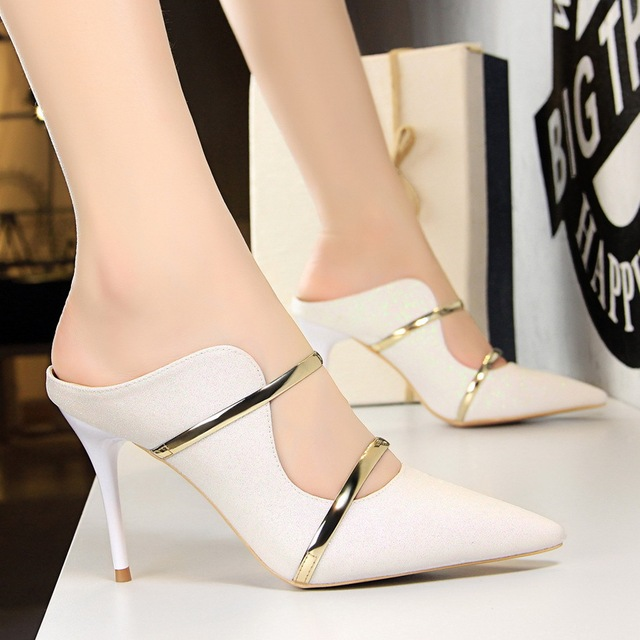 Sexy High Heels Shoes 2018 New Fashion Summer Style Women Platform Pumps For Party Wedding Shoes 3