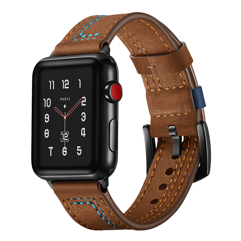 Leather strap for apple watch 4 band 44mm 40mm aplle watch correa  42mm 38mm iwatch series 4/3/2/1 watchband replacement beltLeather strap for apple watch 4 band 44mm 40mm aplle watch correa  42mm 38mm iwatch series 4/3/2/1 watchband replacement belt