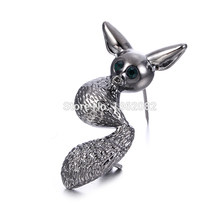 New Fashion Jewelry Gun-black Animal Brooch for Women Men Suit Collar Sweater Kangaroo Pins squirrel Brooch Best Gift CXZ15(China)