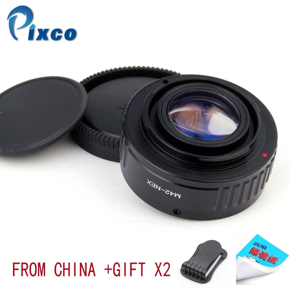 Pixco M42-NEX réducteur de focale Booster de vitesse adaptateur d'objectif pour objectif M42 pour convenir pour Sony E caméra de montage NEX A6000 A3000 3N 6 5R