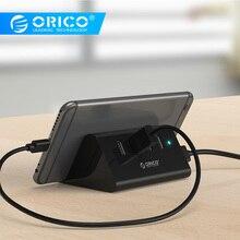 ORICO SHC  High Speed Mini 4 ports USB 3.0 HUB with Phone Tablet Holder